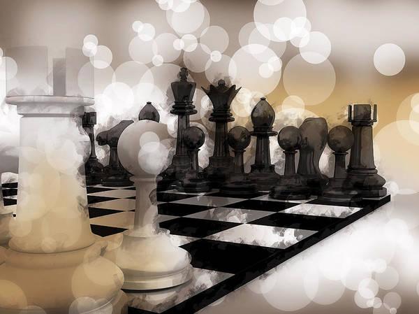 Fork Digital Art - I Dream Of Chess ... by Daniel Hagerman