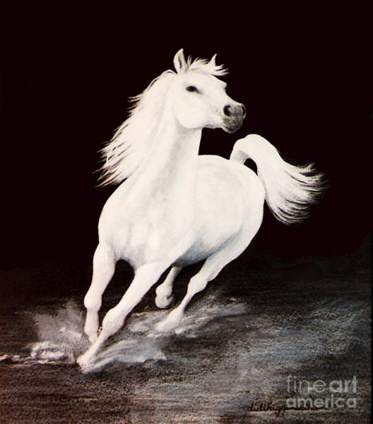 Arabians Painting - I Dreamed Him White by DiDi Higginbotham