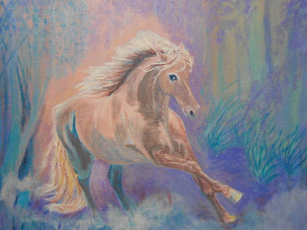 Wall Art - Painting - I Dreamed Of A Pony by Janne Henn