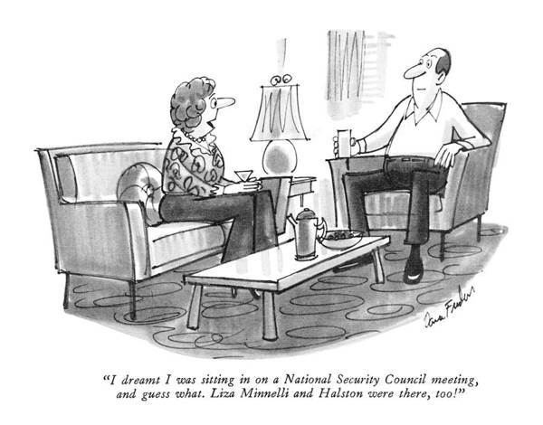 National Security Drawing - I Dreamt I Was Sitting In On A National Security by Dana Fradon