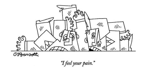 Interpretation Drawing - I Feel Your Pain by Charles Barsotti