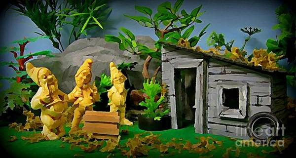 Dioramas Digital Art - I Guess Dopey Didn't Look Good On Their Lawn by John Malone