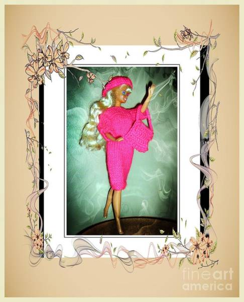 Crochet Digital Art - I Had A Great Time - Fashion Doll - Girls - Collection by Barbara Griffin