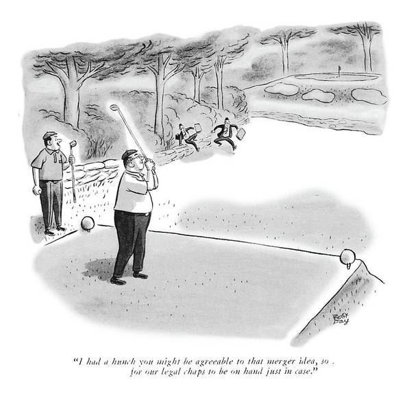 August 11th Drawing - I Had A Hunch You Might Be Agreeable To That by Robert J. Day