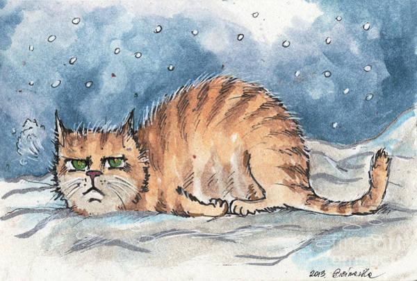 Wall Art - Drawing - I Hate Winter by Angel Ciesniarska