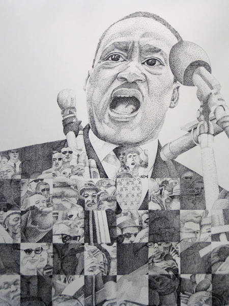 Martin Luther King Wall Art - Drawing - Martin Luther King-i Have A Dream  by Joshua Morton