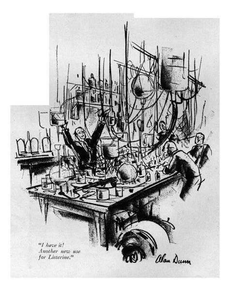 1929 Drawing - I Have It! Another New Use For Listerine by Alan Dunn