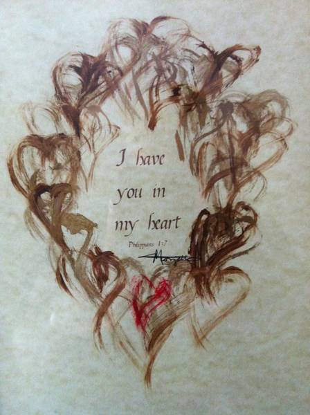 Painting - I Have You In My Heart by Marian Palucci-Lonzetta