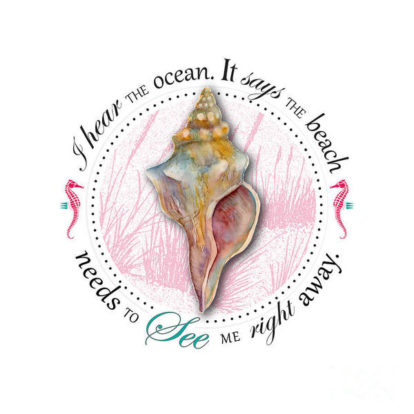 Wall Art - Painting - I Hear The Ocean. It Says The Beach Needs To See Me Right Away. by Amy Kirkpatrick