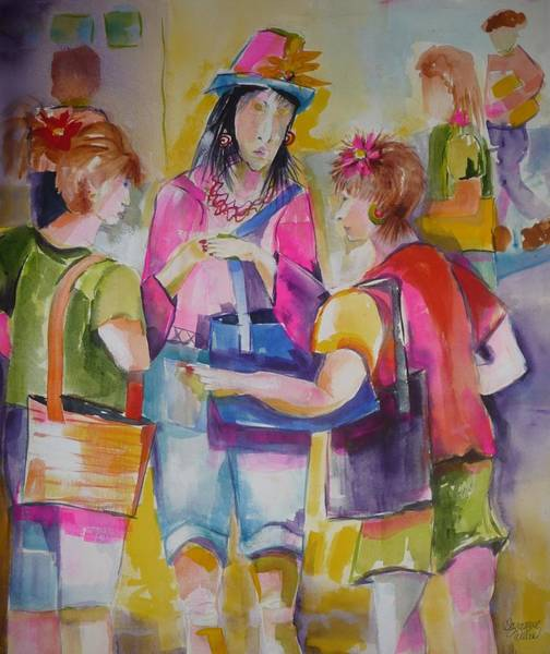 Interaction Painting - I Heard It Through The Grape Vine by Suzanne Willis