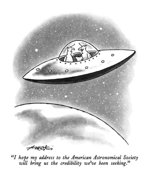 Saucer Drawing - I Hope My Address To The American Astronomical by Henry Martin