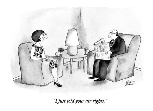 1993 Drawing - I Just Sold Your Air Rights by Victoria Roberts