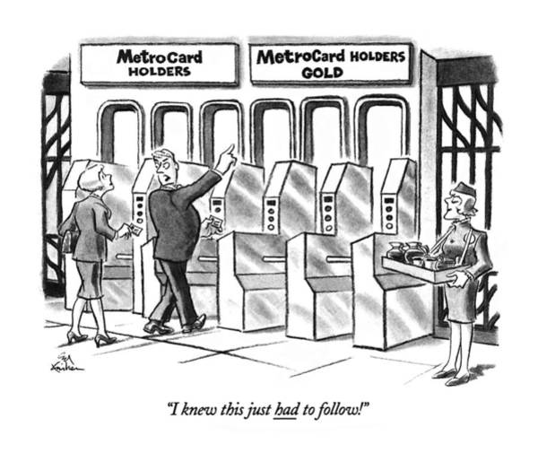 Subway Drawing - I Knew This Just Had To Follow! by Ed Fisher