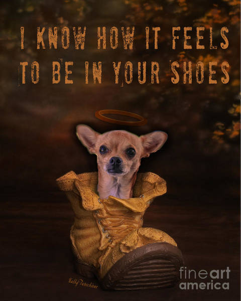 Digital Art - I Know How It Feels To Be In Your Shoes by Kathy Tarochione