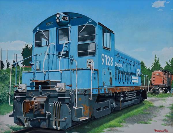 Diesel Trains Painting - I Like Trains by John Houseman