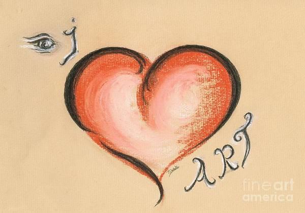 Love Letter Mixed Media - I Love Art by Teresa White