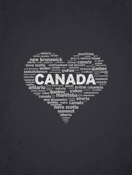 Wall Art - Digital Art - I Love Canada by Aged Pixel