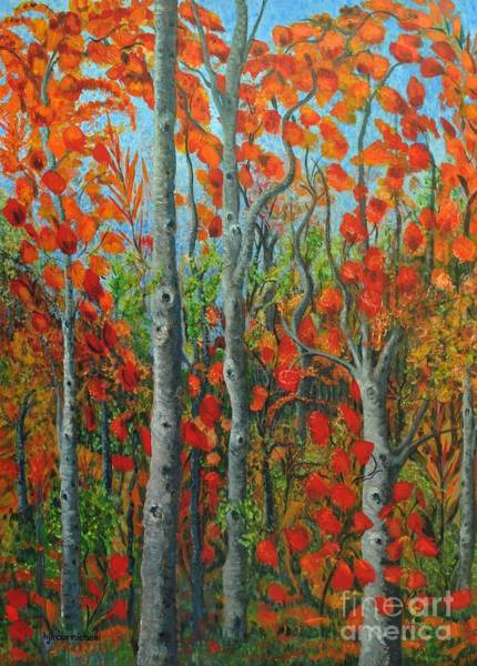 Painting - I Love Fall by Holly Carmichael