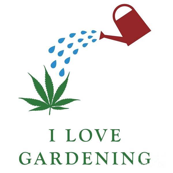 Cultivation Digital Art - I Love Gardening by Stockimage Folio