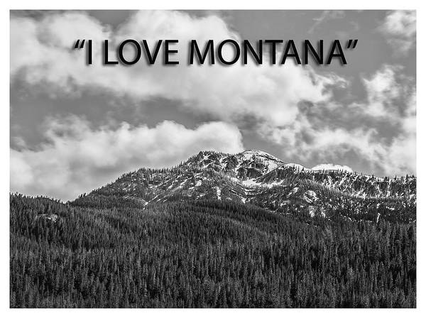 Photograph - I Love Montana by Thomas Young