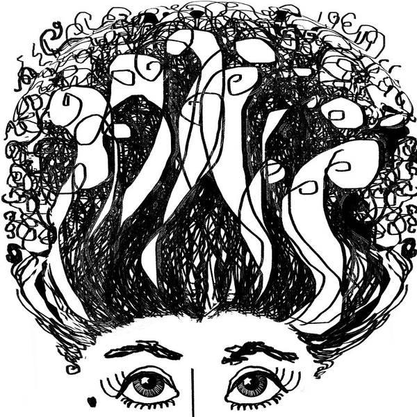 Hairdo Digital Art - I Love My Hair by Ginny Schmidt