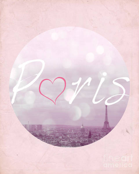 Girly Photograph - I Love Paris by Pati Photography