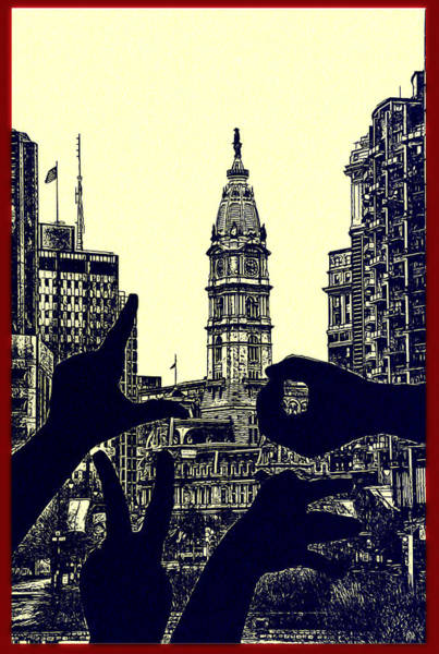 Cityhall Photograph - I Love Philly by Bill Cannon