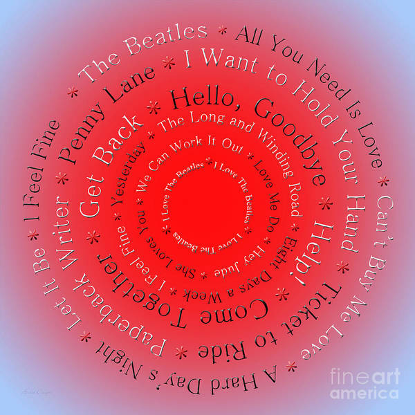 Digital Art - I Love The Beatles 5  by Andee Design