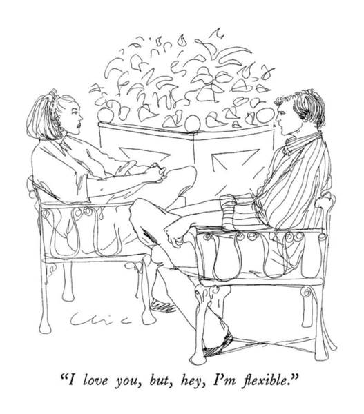 August 27th Drawing - I Love You, But, Hey, I'm Flexible by Richard Cline
