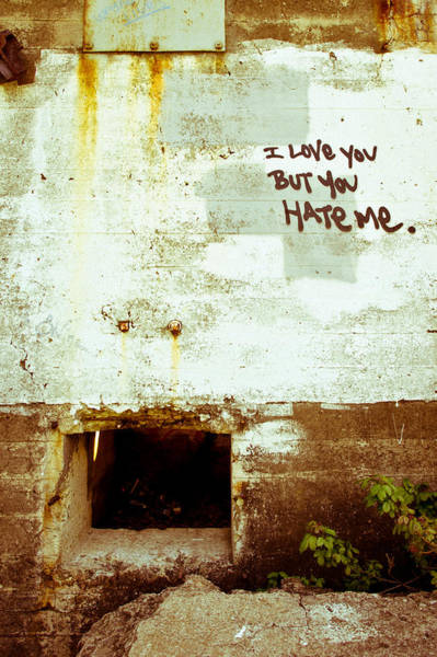 Photograph - I Love You But You Hate Me by Priya Ghose