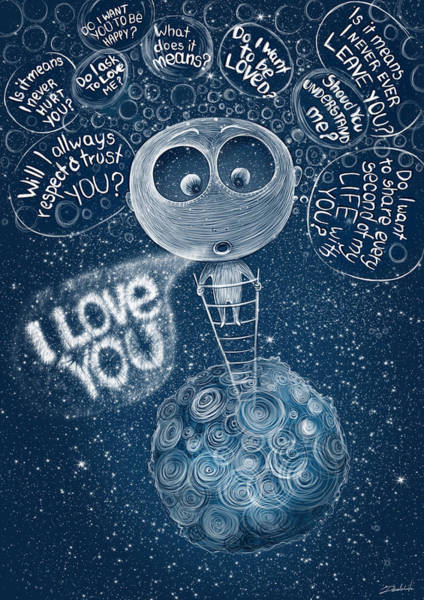 Respect Digital Art - I Love You by Ruta Dumalakaite