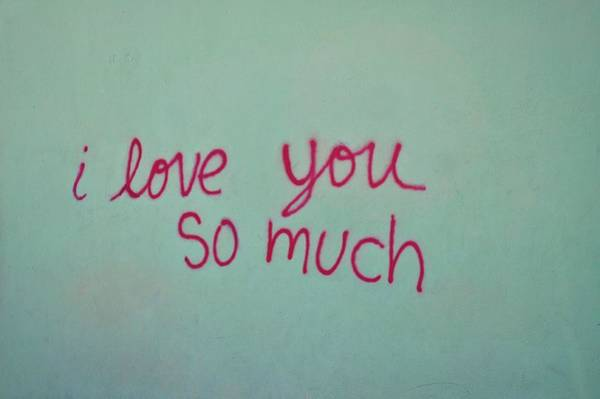 Shower Curtain Photograph - I Love You So Much by Kristina Deane