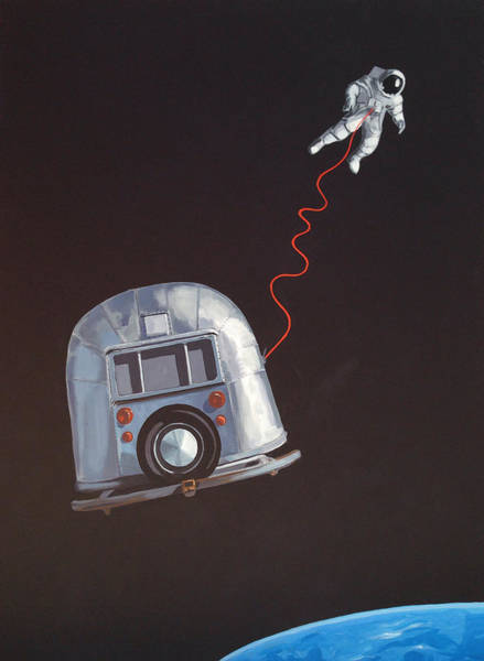 Camper Wall Art - Painting - I Need Space by Jeffrey Bess