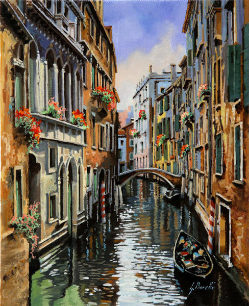 Venice Wall Art - Painting - I Pali Rossi by Guido Borelli