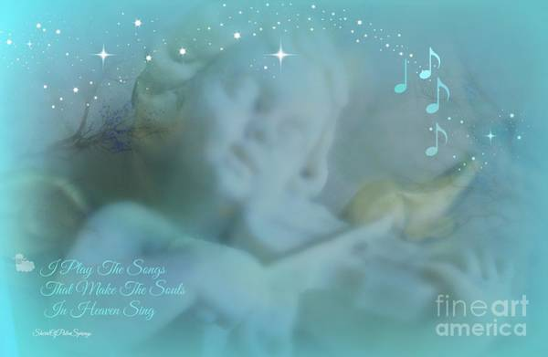 Angel Of Peace Photograph - I Play The Songs by Sherri's - Of Palm Springs