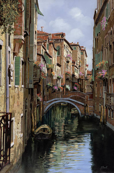 Wall Art - Painting - I Ponti A Venezia by Guido Borelli