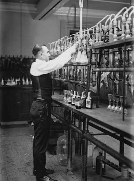 Wall Art - Photograph - I R S Prohibition Test Lab  1920 by Daniel Hagerman