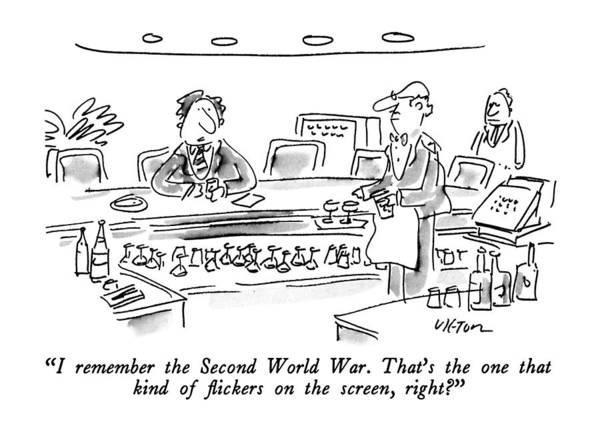 Memory Drawing - I Remember The Second World War.  That's The One by Dean Vietor