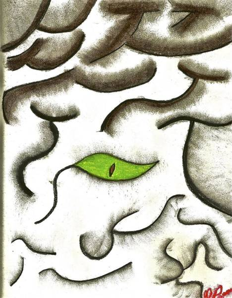 Drawing - I See Through You by Mario MJ Perron