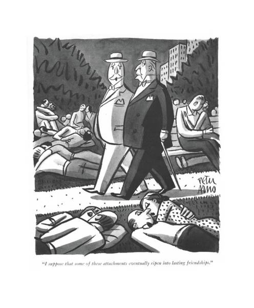 Drawing - I Suppose That Some Of These Attachments by Peter Arno