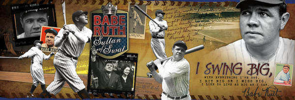Babe Photograph - I Swing Big Babe Ruth by Retro Images Archive