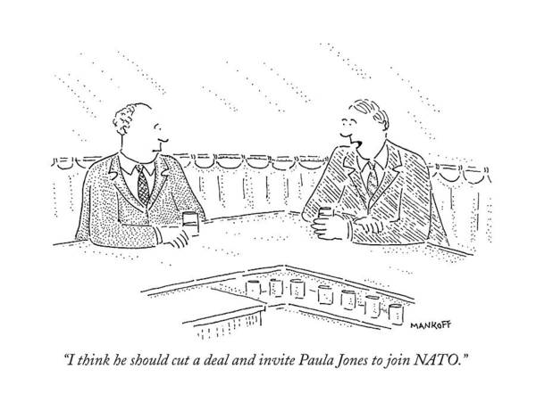 Wall Art - Drawing - I Think He Should Cut A Deal And Invite Paula by Robert Mankoff