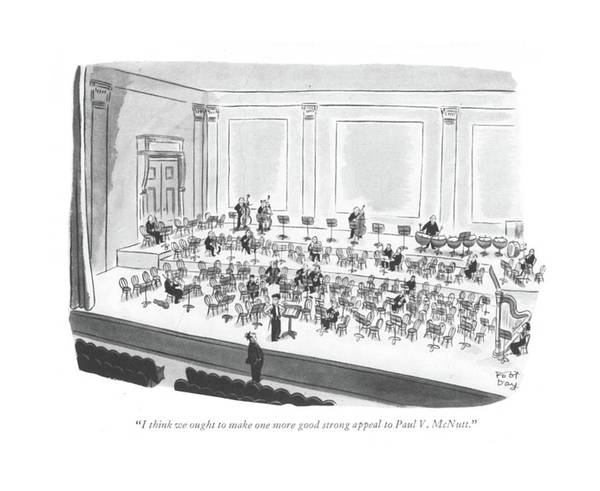 Concerts Drawing - I Think We Ought To Make One More Good Strong by Robert J. Day