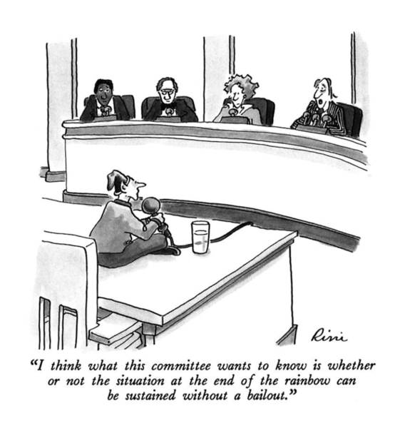 Elves Drawing - I Think What This Committee Wants To Know by J.P. Rini