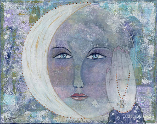 Wall Art - Painting - I Touched The Moon by Nancy TeWinkel Lauren