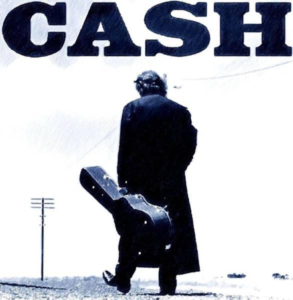 Johnny Cash Digital Art - I Walk The Line by Jerry Gose Jr