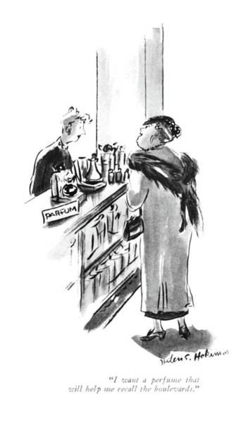 Memory Drawing - I Want A Perfume That Will Help Me Recall by Helen E. Hokinson