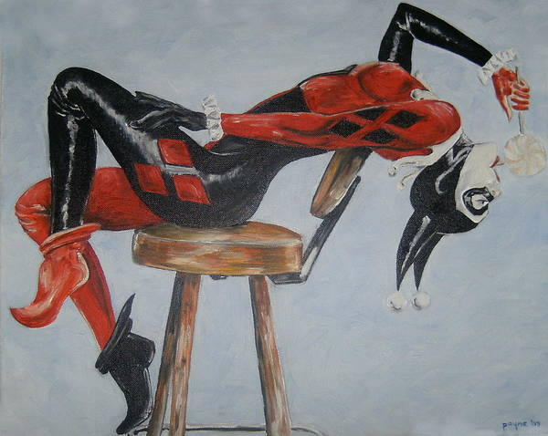 Harley Quinn Wall Art - Painting - I Want Candy by Deana Smith