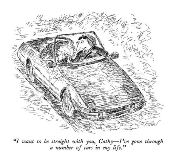 Auto Drawing - I Want To Be Straight by Edward Koren