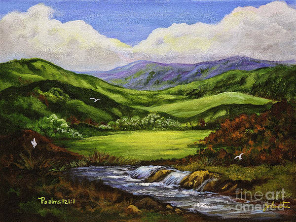 Painting - I Will Lift Up My Eyes To The Hills  From Whence Comes My Help by Bob and Nadine Johnston